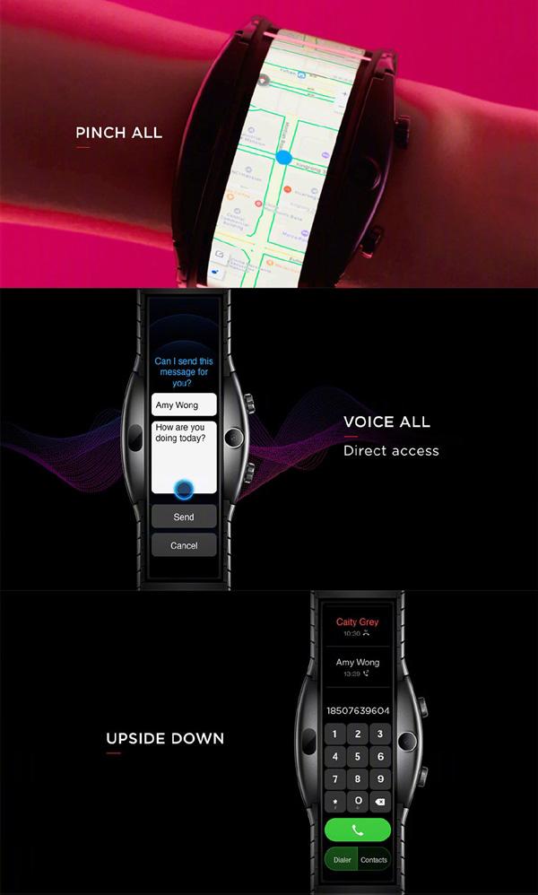搭载环绕式柔性屏,努比亚α智能手表发布:支持语音通话,499欧元起!
