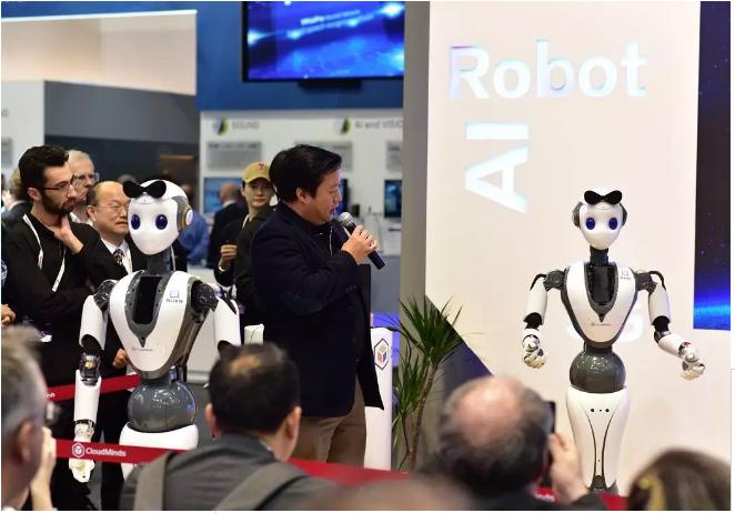 达闼科技携全新云端智能柔性机器人XR-1亮相MWC