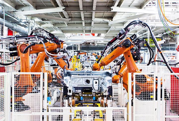 美国汽车工业机器人应用量首度跌破50%,风水宝地在哪?