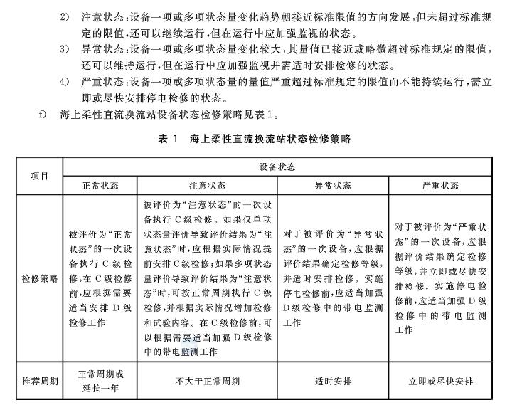 国家标准《海上柔性直流换流站检修规范》发布