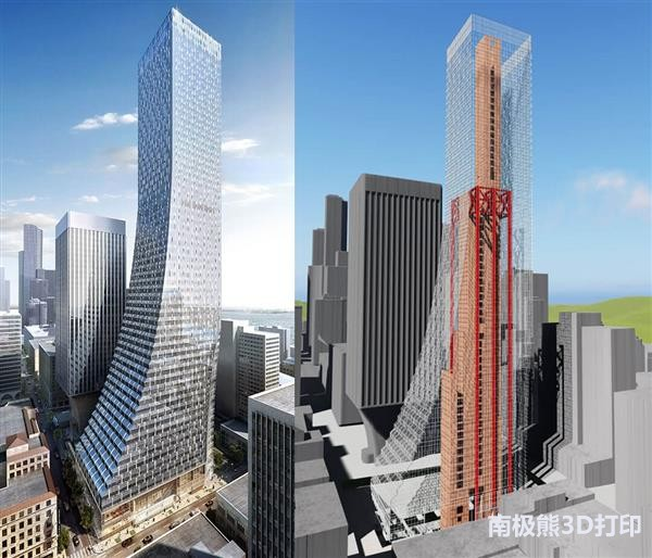 3Diligent为西雅图第二高楼生产140个3D打印组件
