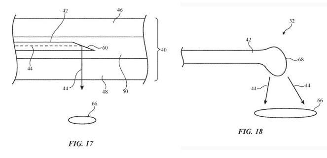 苹果专利可采用光纤输出灯光并传输数据 将光纤隐藏于车辆部件内