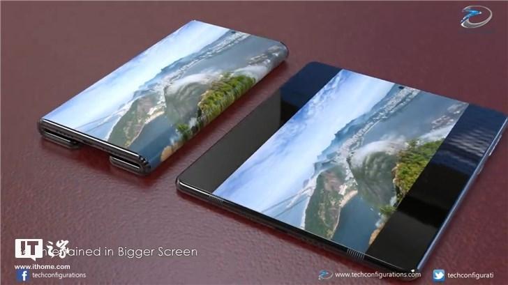 小米折叠手机概念视频出炉:双折设计,展开后达10英寸