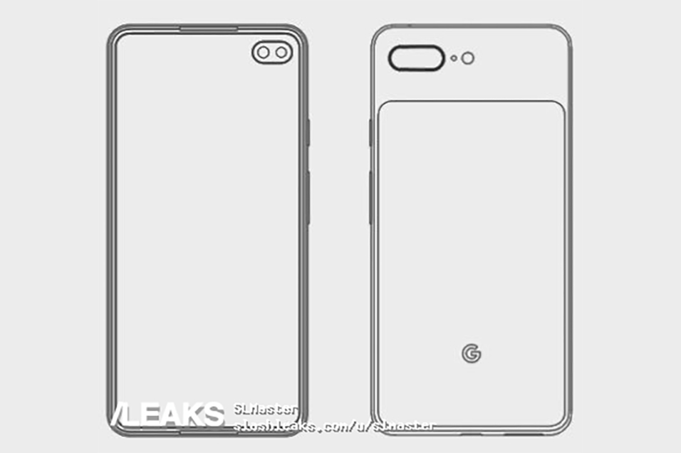 Pixel 4 XL渲染图曝光:难看的刘海消失,后置升级双摄