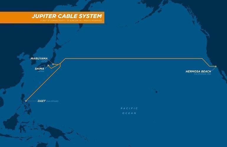 韩国电信承建JUPITER海缆日本-菲律宾段