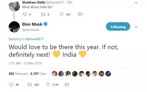 上海不是终点,马斯克表示特斯拉今年或明年将在印度建厂