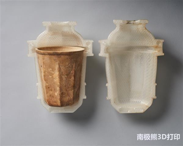 用3D打印的模具控制葫芦的生长形状 制作纤维杯子