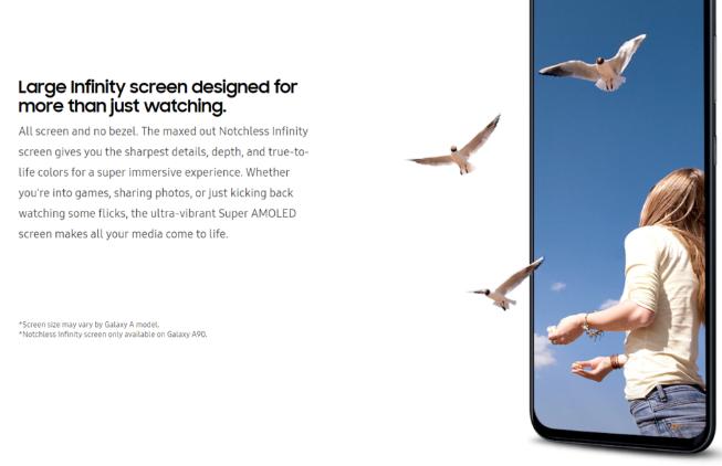 官网泄密 三星Galaxy A90全面屏设计坐实