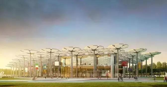 2019北京世园会夜景、智慧灯杆建设先睹为快