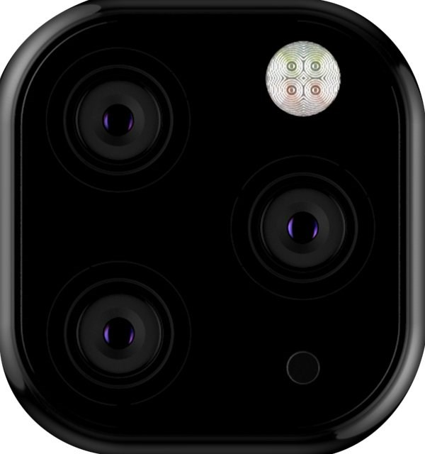 苹果iPhone XI摄像头布局原型曝光:三角布局四摄
