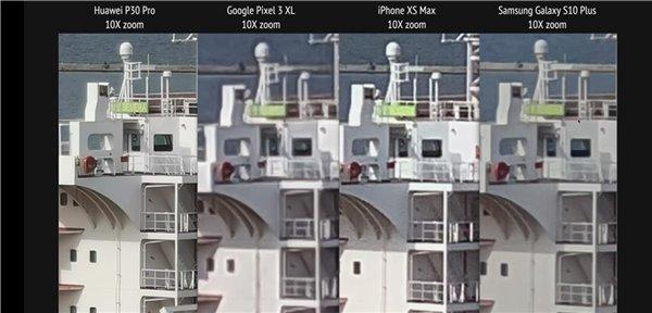 华为P30 Pro、谷歌Pixel 3 XL、三星S10+、iPhone XS Max拍照对比