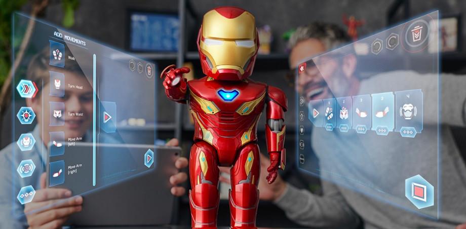 优必选与漫威合作推出首款钢铁侠智能机器人