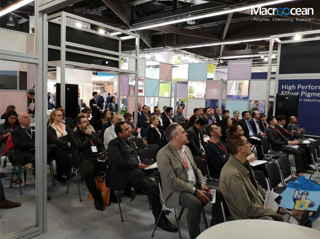 苏州瀚海新材料Macroocean 2019欧洲涂料展技术讲座:最前沿的BPA-NI高分子量罐体内涂聚酯技术