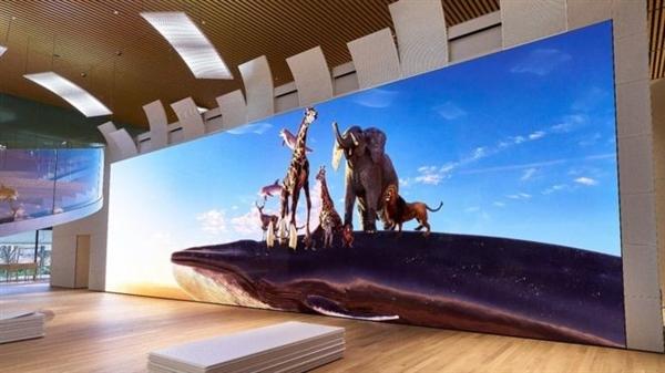 索尼展示最新一代16K显示屏:约780吋、基于MicroLED技术