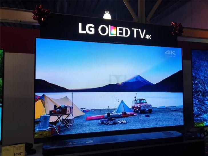 零售店中LG OLED电视出现烧屏