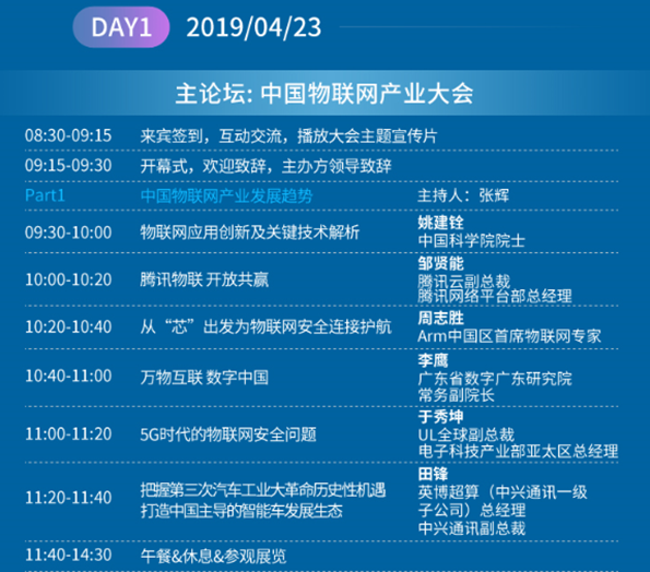 倒计时1天|OFweek 2019(第三届)中国物联网产业大会即将开幕,你准备好了吗?