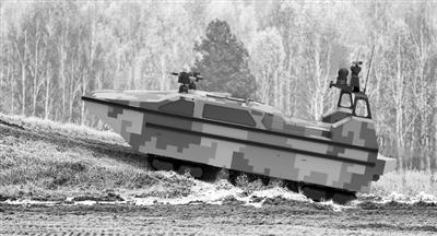 """下海、抢滩、隐身 首款水陆两栖无人艇""""军民融合造"""""""
