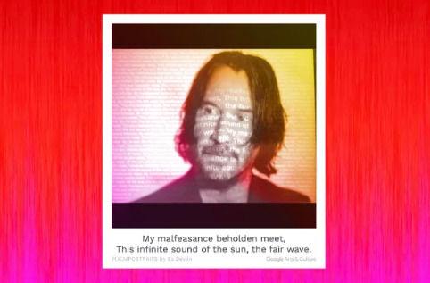 """谷歌最新的AI艺术项目将用户的自拍照变成""""诗画像"""""""