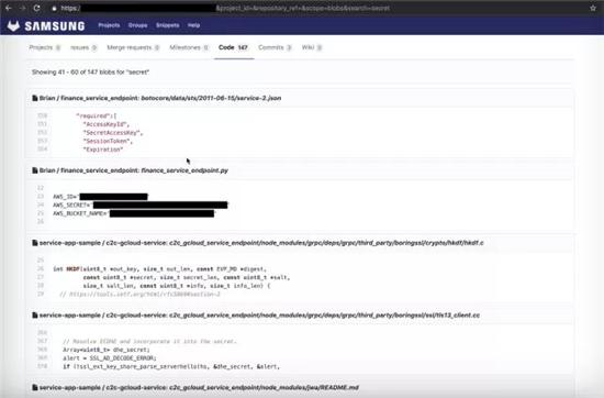 三星多个代码泄密,包括SmartThings敏感的源代码、证书和密钥!
