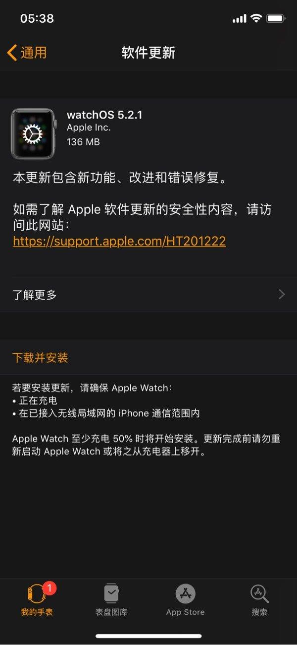 """苹果手表5.2.1发布:心电图区域扩展,新的""""骄傲"""