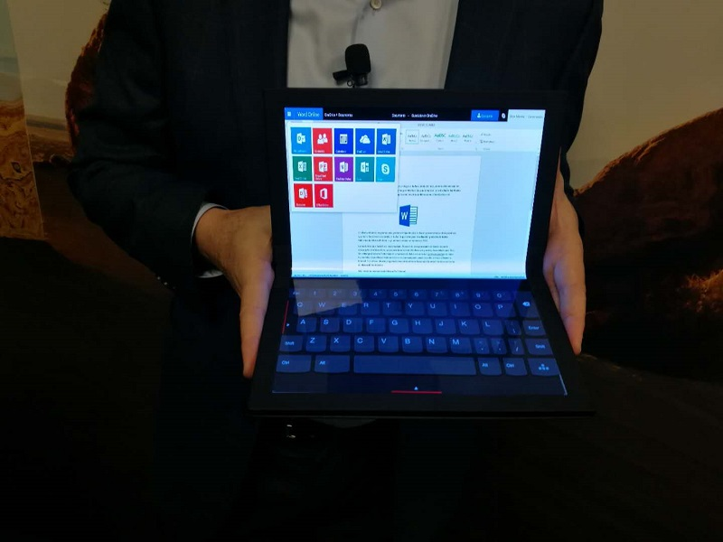 联想发布ThinkPad X1系列全球首款折叠屏电脑原型