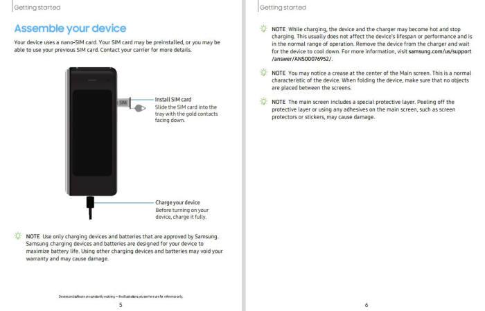 三星Galaxy Fold用户手册曝光:注明不得撕下保护膜