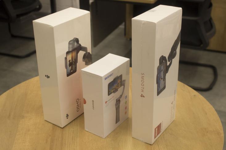 2019年热门手机稳定器大疆osmo mobile 2、百诺P1、智云smooth4专业测评