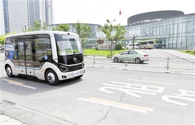 5G自动驾驶公交郑州试运行