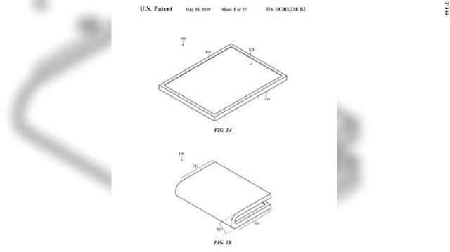 苹果可折叠屏幕专利被曝光 或将被应用于新款苹果手机