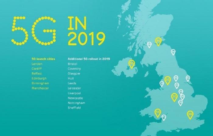 英国在6座城市推出5G商用服务 而我只关心网速