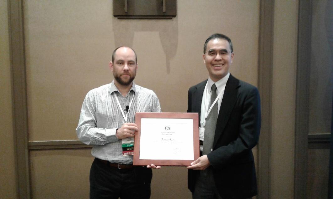 Saphlux联合创始人韩仲教授获美国电化学学会电子与光子学部奖