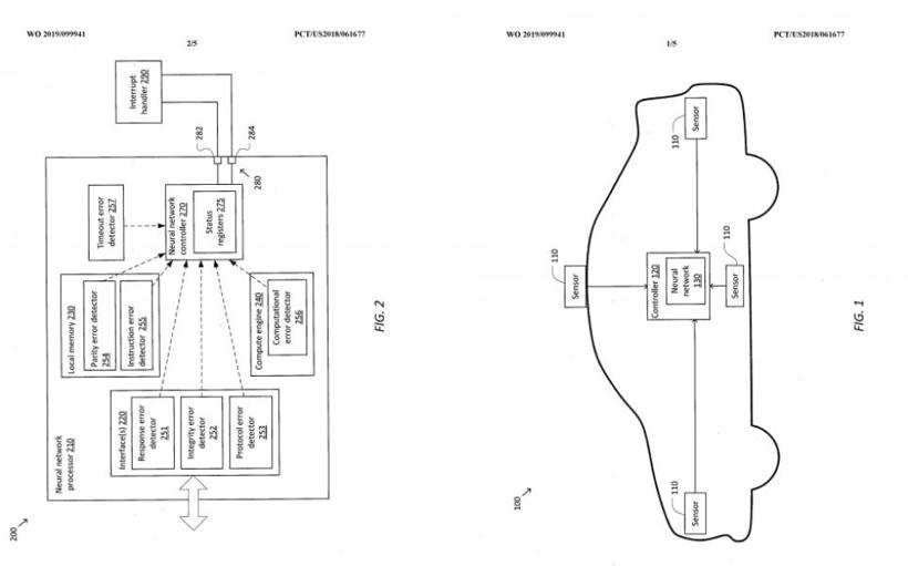 特斯拉安全处理自动驾驶软件错误专利
