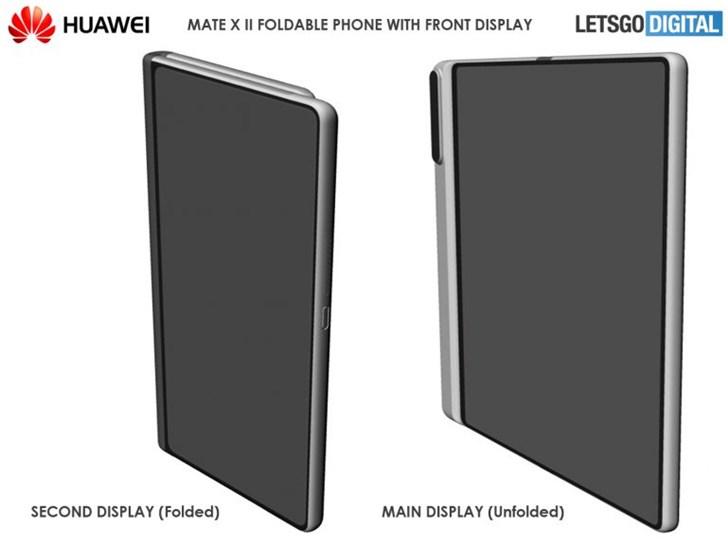 华为Mate X 2折叠屏手机外观设计专利曝光