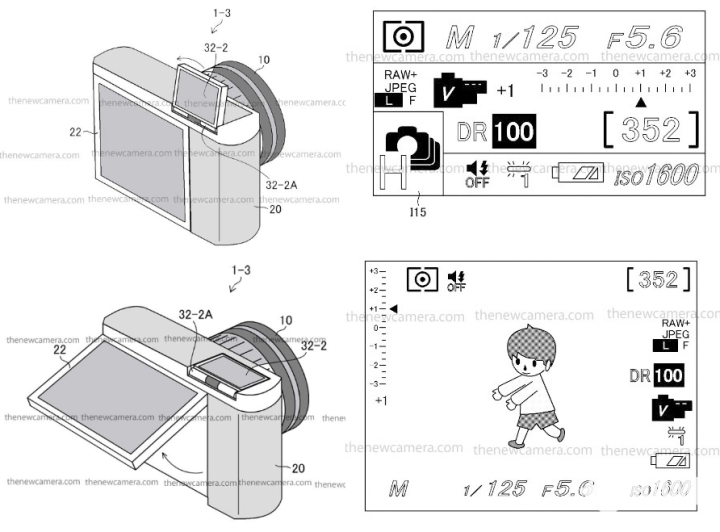 富士公布可翻转肩屏专利:看参数、可取景还能更省电!
