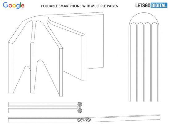 谷歌折叠屏专利公布:可像书一样折叠打开