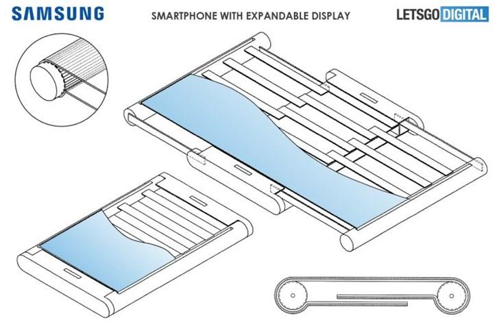 三星伸缩屏幕设计专利曝光:可向左右伸长