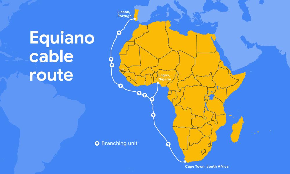 谷歌第三条海底光缆系统Equiano拟于2021年投产