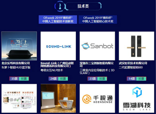 """投票开始啦!""""景智AI 2019'维科杯'(第四届)中国人工智能行业年度评选""""大奖将花落谁家?"""