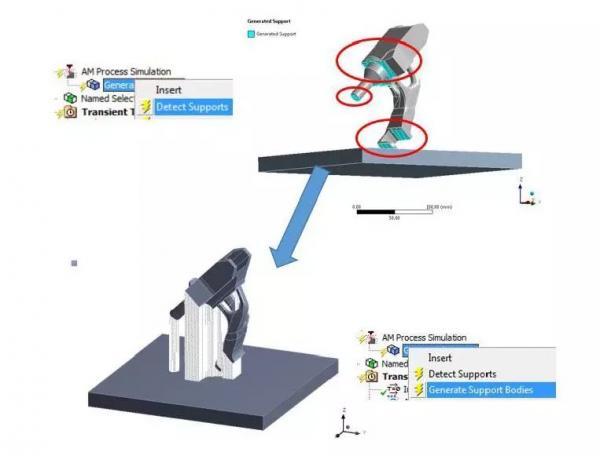金属SLM选区金属熔化工艺仿真中关于支撑的分析研究(上篇)