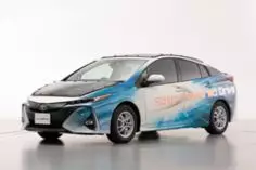 日本制搭载太阳能电池板电动汽车