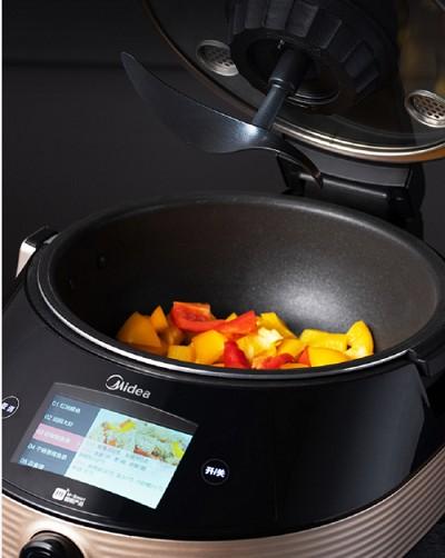 美的全新推出炒菜机器人 只为解放用户双手