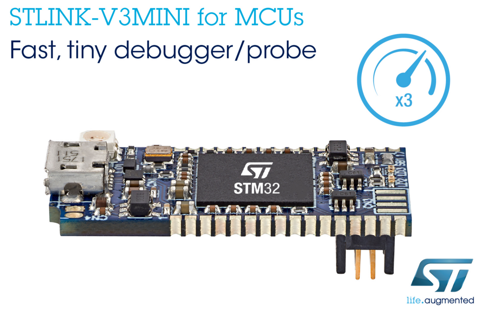 ST推出袖珍级别调试探头,加快STM32应用开发