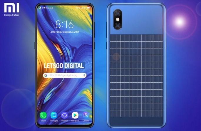 小米新设计专利曝光:手机背部带有太阳能电池