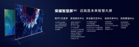 荣耀智慧屏正式发布!全球首款搭载华为鸿蒙系统终端亮相