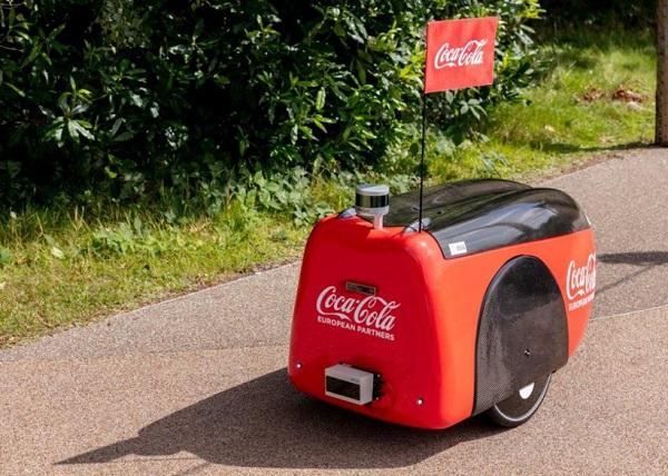 可口可乐正进行测试自动驾驶机器人配送服务