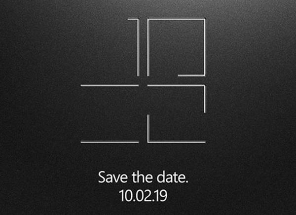 微软发布邀请函:10月2日或将更新Surface系列