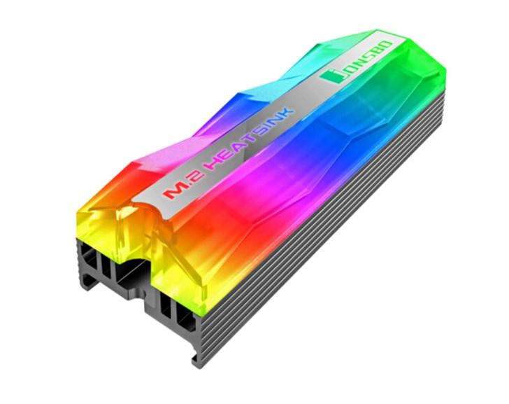 乔思伯推出RGB固态硬盘散热器:支持灯效同步,售价60元