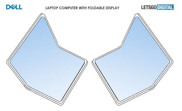 戴尔折叠屏笔记本电脑设计曝光,B/C面全是屏