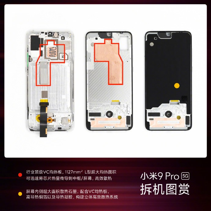 图解小米9 Pro 5G构造:芯片、散热模块、充电模块都如何布置?