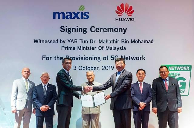 Maxis与华为签署合同,领跑马来西亚5G